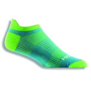 Fitness Mania - Wrightsock Coolmesh II Anti-Blister Tab Running Socks - Blue/Green