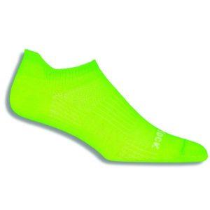 Fitness Mania - Wrightsock Coolmesh II Anti-Blister Tab Running Socks - Neon Yellow