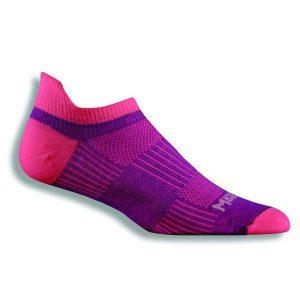 Fitness Mania - Wrightsock Coolmesh II Anti-Blister Tab Running Socks - Plum/Pink