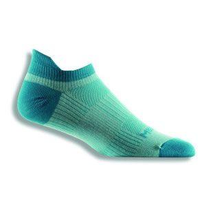 Fitness Mania - Wrightsock Coolmesh II Anti-Blister Tab Running Socks - Sea Mist/Turquoise