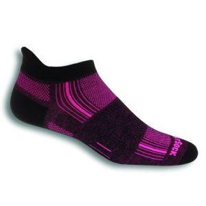 Fitness Mania - Wrightsock Stride Anti-Blister Tab Running Socks - Black/Pink