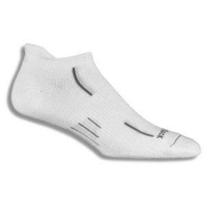 Fitness Mania - Wrightsock Stride Anti-Blister Tab Running Socks - White/Grey