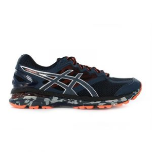 Fitness Mania - ASICS Mens GT-2000 4 Trail (2E) Mediterranean Dark Slate/Hot Orange