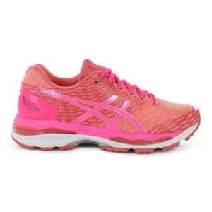 Fitness Mania - ASICS Womens GEL-Nimbus 18 Peach / Hot Pink