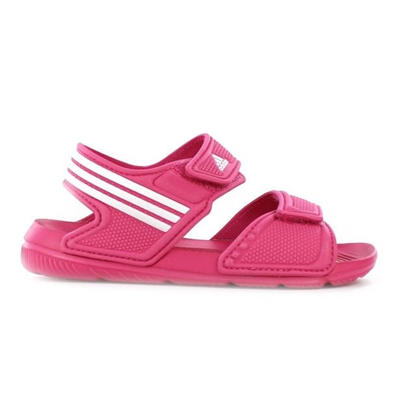 Fitness Mania – adidas Kids Akwah 9 (Big Kids) Sandal Pink/White