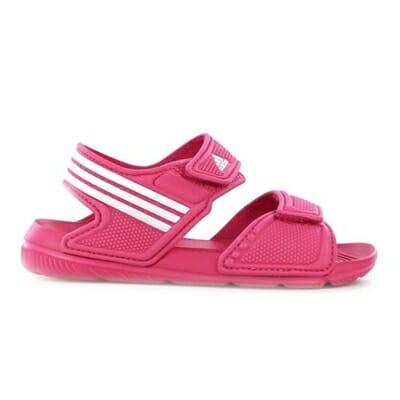 Fitness Mania – adidas Kids Akwah 9 (Big Kids) Sandal Pink/White