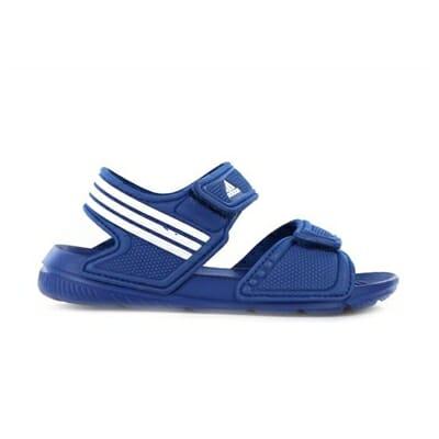Fitness Mania – adidas Kids Akwah 9  (Toddler) Sandal Blue/White