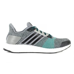 Fitness Mania - adidas Mens Ultra Boost ST Grey Core/Black/ EQT Green