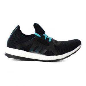 Fitness Mania - adidas Womens PureBoost X  Black/Green/Core Black