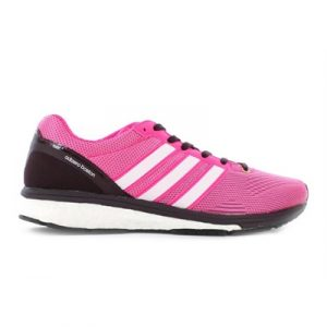 Fitness Mania - adidas Womens adizero Boston Boost 5 TSF Mineral Red/Shock Pink/Bold Onix
