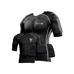 Fitness Mania - TITIN 8lb Weighted Compression Shirt System - Black - S