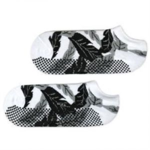 Fitness Mania - Move Active Non-Slip Pilates Socks - Black/Grey Palm