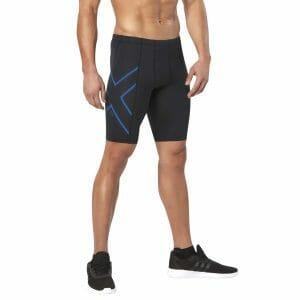 Fitness Mania - 2XU ICE-X Mens Compression Shorts - Black/Cool Blue