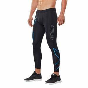 Fitness Mania - 2XU ICE-X Mens Compression Tights - Black/Cool Blue
