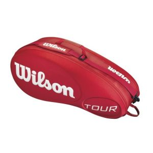 Fitness Mania - Wilson Tour Moulded 6 Pack Tennis Racquet Bag - Red
