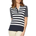 Fitness Mania - 3/4 Sleeve Block Stripe Polo