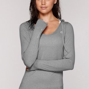 Fitness Mania - Abbey Hooded Excel L/Slv Top
