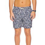 Fitness Mania - 17 INCH ELASTIC WAIST WAVEY STRIPE SWIM SHORT