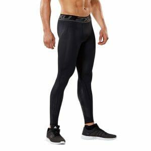 Fitness Mania - 2XU Accelerate Mens Compression Tights - Black/Arrow Stripe Nero