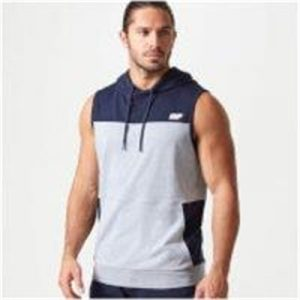 Fitness Mania - Superlite Sleeveless Hoodie - S - Navy