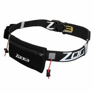 Fitness Mania - Zone3 Triathlon Race Belt With Neoprene Pouch - Black/Gold