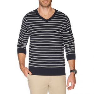Fitness Mania - V-neck stripe sweater