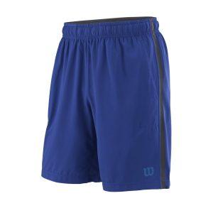 Fitness Mania - Wilson Urban Wolf 2 Woven 8 Inch Mens Tennis Shorts - Mazzarine Blue