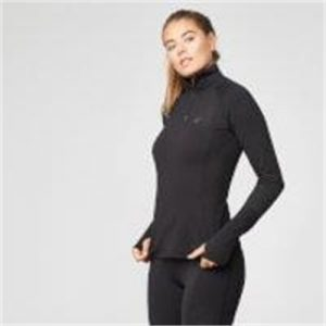 Fitness Mania - Element 1/4 Zip Top - S - Black