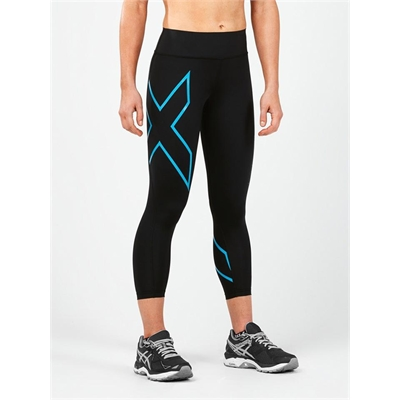 Fitness Mania – 2XU Compression Bonded Mid Rise 7/8 Tights Womens