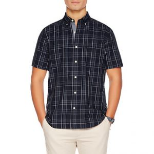 Fitness Mania - WINDOWPANE SHORT SLEEVE SHIRT