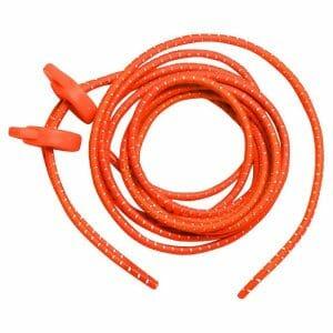 Fitness Mania - Zone3 Elastic Running/Triathlon Shoe Laces - Neon Orange