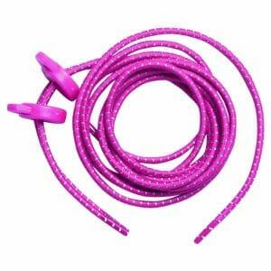 Fitness Mania - Zone3 Elastic Running/Triathlon Shoe Laces - Neon Pink