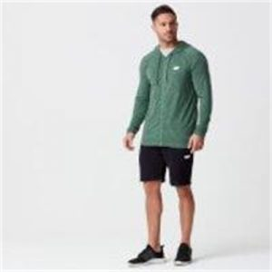 Fitness Mania - Performance Zip-Top - XS - Dark Green Marl
