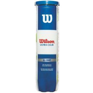 Fitness Mania - Wilson Ultra Club Tennis Balls - Can of 4