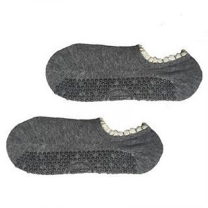 Fitness Mania - Move Active Non-Slip Pilates Socks - Pom Pom Grey