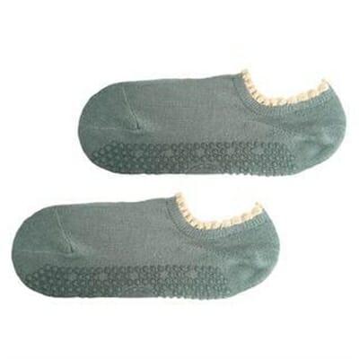 Fitness Mania – Move Active Non-Slip Pilates Socks – Pom Pom Teal