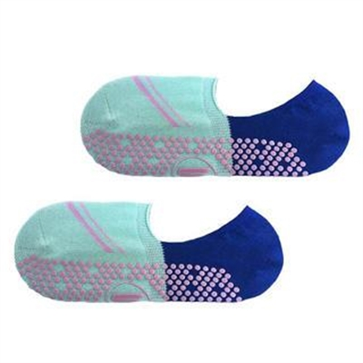 Fitness Mania – Move Active Non-Slip Pilates Socks – Volley Footlet Mint/Blue