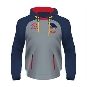 Fitness Mania - Adelaide Crows Ladies Pullover Squad Hoody 2018