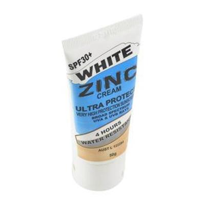 Fitness Mania – Zinc Cream White 50g Tube 30+
