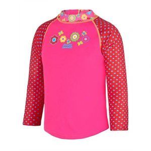 Fitness Mania - Zoggs Toddler Girls Flora Zip Sun Top