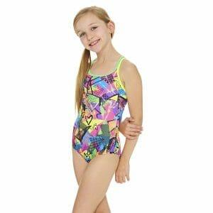 Fitness Mania - Zoggs Street Girl Duoback Kids Girls One Piece Swimsuit - Multi