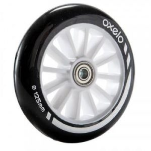 Fitness Mania - 1 x 125 mm Scooter Wheel with Bearings _PIPE_ Black