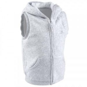 Fitness Mania - 100 Baby Sleeveless Hooded Gym Jacket - Grey