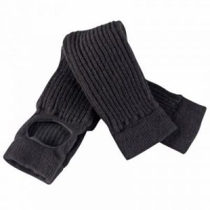 Fitness Mania - Classic modern dance leg warmers with opening - black
