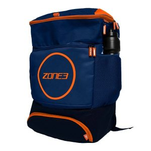 Fitness Mania - Zone3 Triathlon Transition Backpack - Navy/Orange
