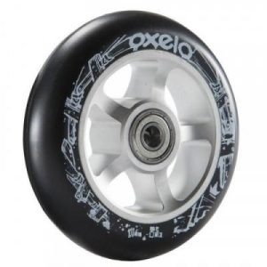 Fitness Mania - 100 mm Alu PU Scooter Wheel - Black