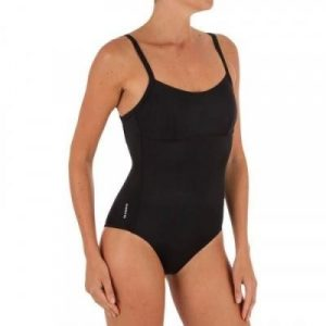 Fitness Mania - Cloe Women's One-Piece Swimsuit X- or U-shaped Back - Black