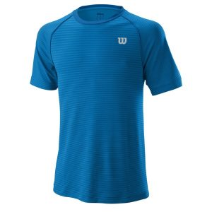 Fitness Mania - Wilson Training Core Crew Mens Tennis T-Shirt - Imperial Blue/Brilliant Blue