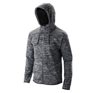 Fitness Mania - Wilson Training Hooded Mens Tennis Jacket - Black Heather