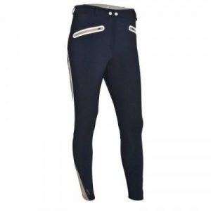 Fitness Mania - Training Women's Light Mesh Riding Jodhpurs - Blue/Beige
